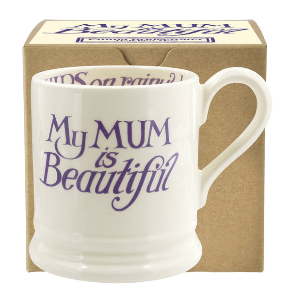 Emma Bridgewater Gift Boxed 1/2 pint Mum is Beautiful Mug