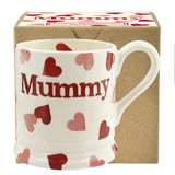 Emma Bridgewater Gift Boxed 1/2 pint Pink Heart Mummy