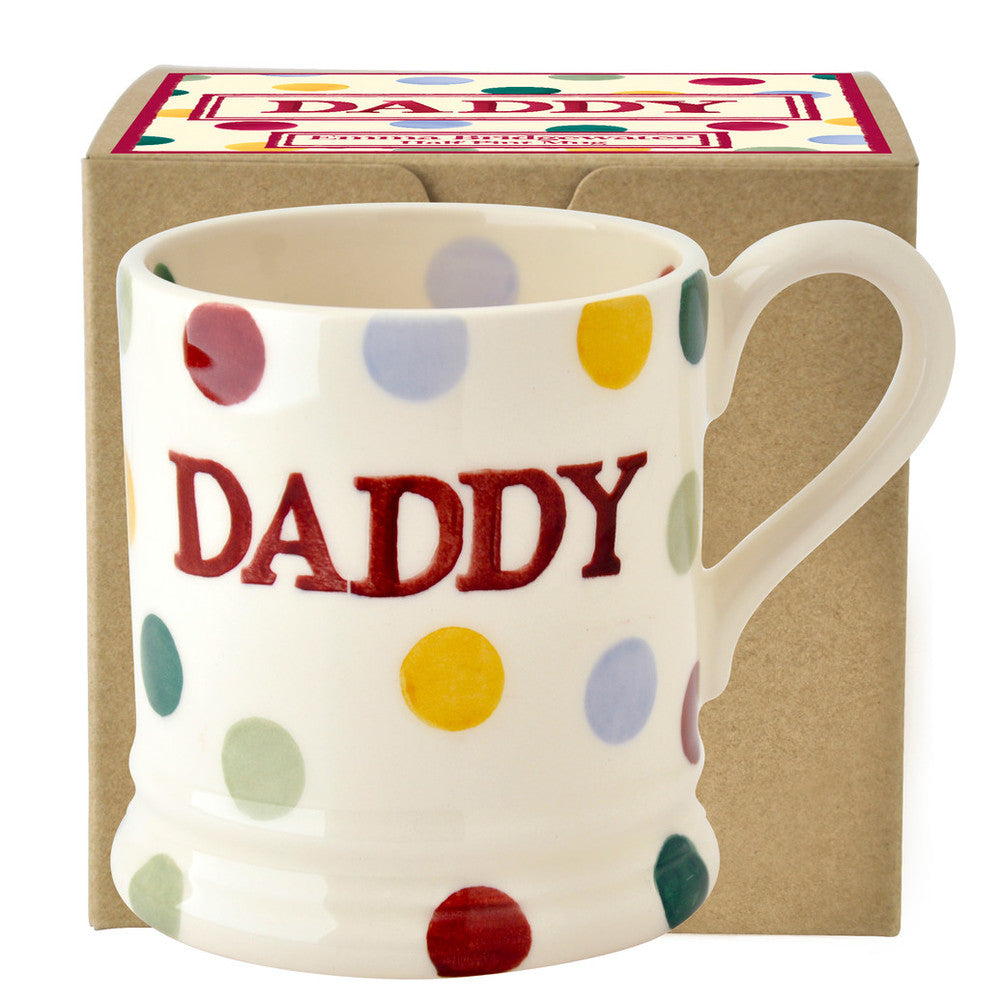 Emma Bridgewater Gift Boxed 1/2 Polka Dot Daddy