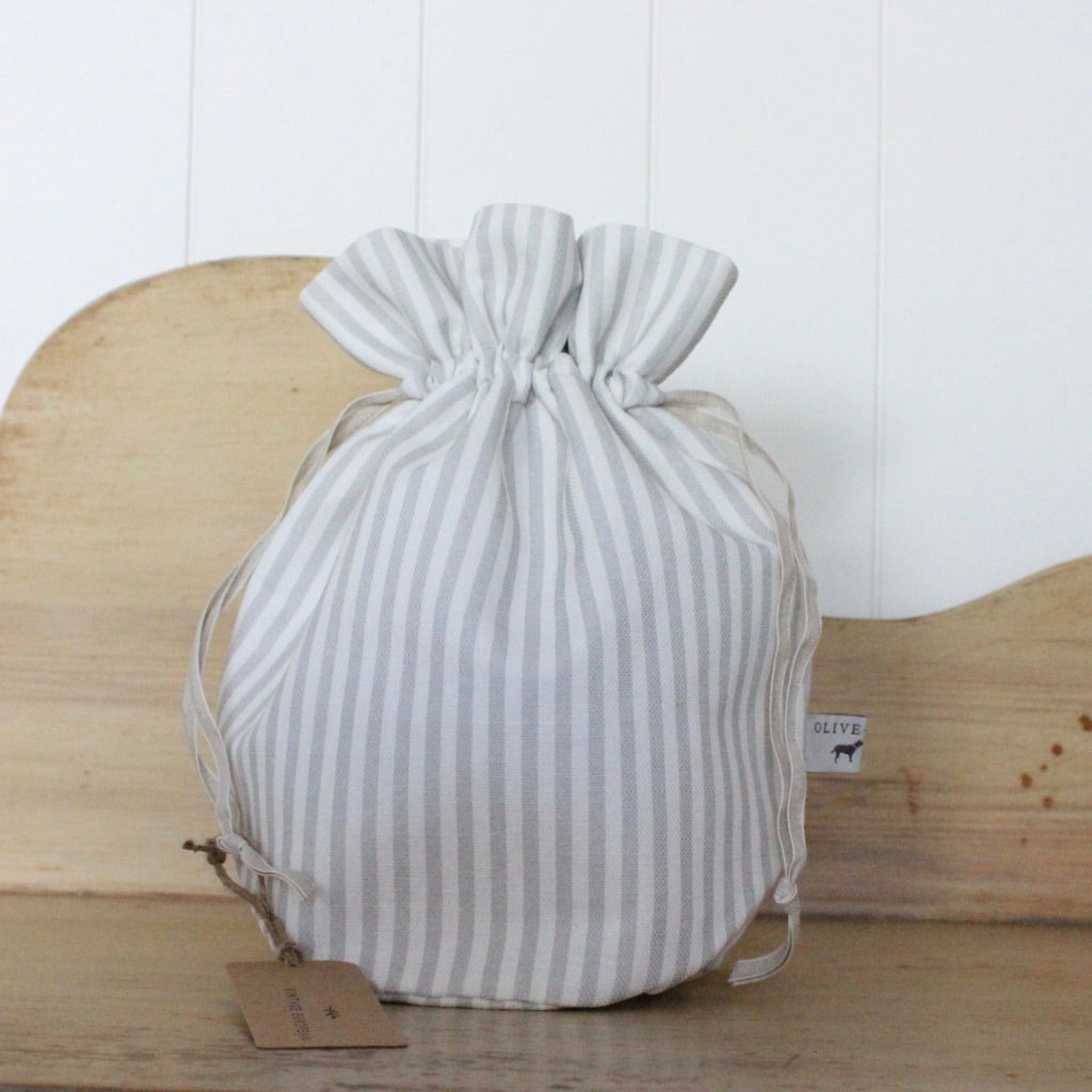 Wash bag - candy stripe