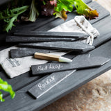 Set of 6 Slate Tags with Soapstone Pencil