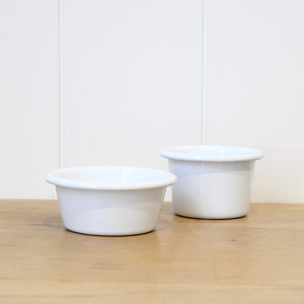 Enamel Dip Bowl Raw Edge - 2 sizes