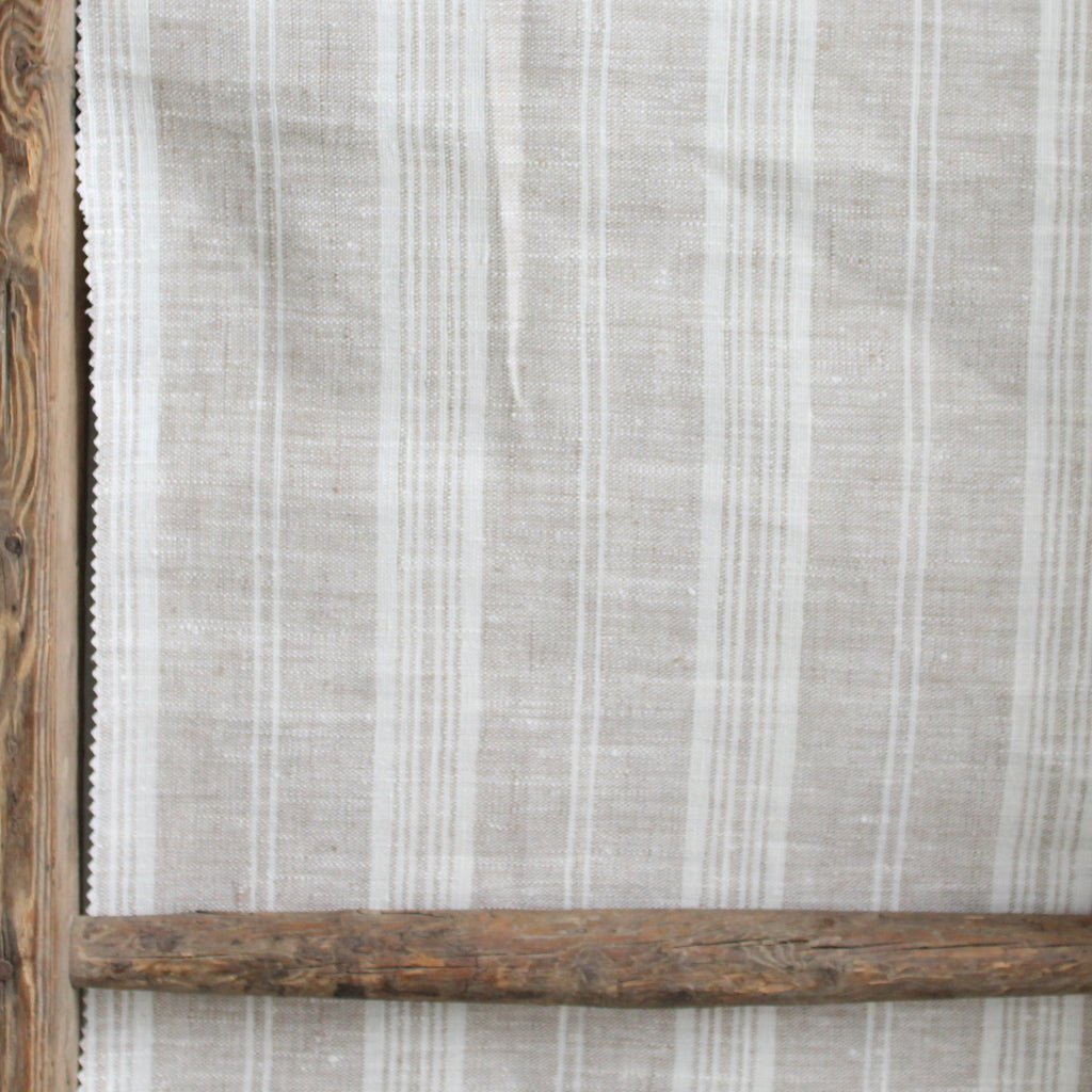 Multistripe Birch 100% linen