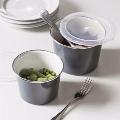 Enamel Food Pot - Small
