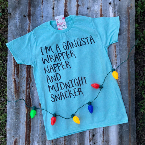 Gangsta | $27.99 S-2X | Christmas Graphic Tee | The Brave Beauty