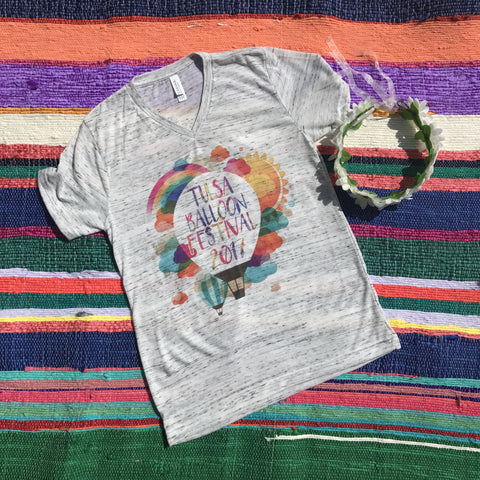 Rainbow Balloon Limited Tee | S-2X $24.99 | Tulsa Balloon Festival | The Brave Beauty