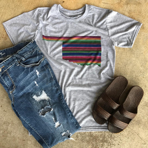 Serape State Tee | S-3X $24.99 | Southwestern | The Brave Beauty - The Brave Beauty