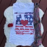 State Americana White | S-2X $31.99 | State Pride Graphic Tee | The Brave Beauty