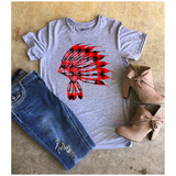 Buffalo Plaid Headdress | Graphic Tee's | The Brave Beauty - The Brave Beauty