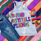 Food Festival Friends | S-2X $31.99 | Southwestern Graphic Tee | The Brave Beauty