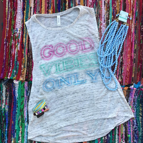 Good Vibes Only | S-2X $31.99 | Boho & Hippie Graphic Tee | The Brave Beauty