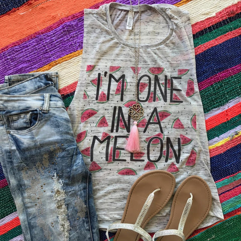 I'm One in a Melon | S-2X $31.99 | Marbled Graphic Tee | The Brave Beauty