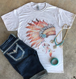Vintage Watercolor Headdress | S-3X $24.99 | Graphic Tee | The Brave Beauty - The Brave Beauty