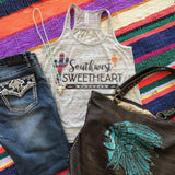 Southwest Sweetheart | S-2X $31.99 | Marbled Graphic Tee | The Brave Beauty