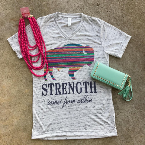 Strength Comes From Within | S-2X $31.99 | Marbled Graphic Tee | The Brave Beauty
