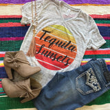 Tequila Sunsets | S-2X $31.99 | Marbled Graphic Tee | The Brave Beauty