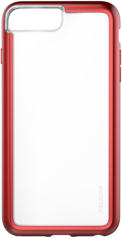 Adventurer Case for Apple iPhone 6 / 6s / 7 / 8 Plus - Clear Metallic Red