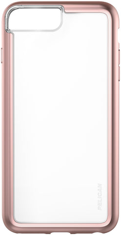 Adventurer Case for Apple iPhone 6 / 6s / 7 / 8 Plus - Clear Metallic Rose Gold