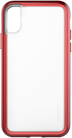 Adventurer Case for Apple iPhone X - Clear Metallic Red