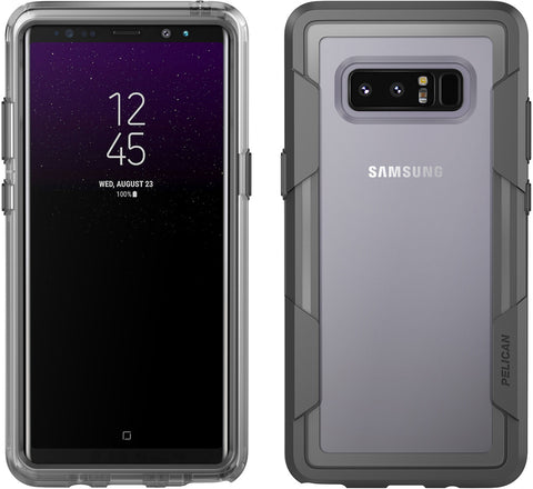 meet 633b6 ff716 Voyager Case for Galaxy Note 8 - Clear Gray