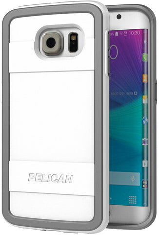 Protector Case for Samsung Galaxy S6 Edge - White/Gray