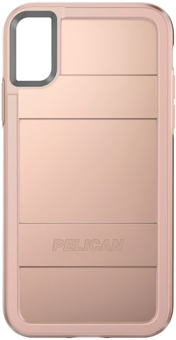 Protector Case for Apple iPhone X / Xs - Metallic Rose Gold