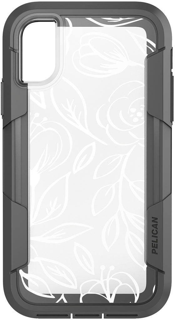 innovative design 47378 649b0 Voyager Case for Apple iPhone X / Xs - Floral Gray