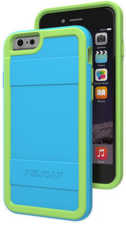 Protector Case for Apple iPhone 6/6s - Light Blue/Lime Green
