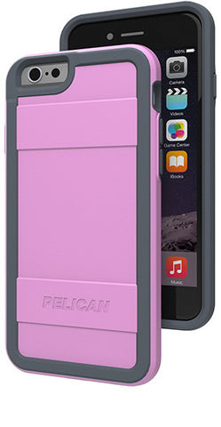 Protector Case for Apple iPhone 6/6s - Pink/Gray