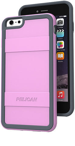 Protector Case for Apple iPhone 6/6s Plus - Pink Gray