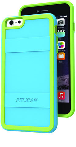 Protector Case for Apple iPhone 6/6s Plus - Light Blue Lime Green