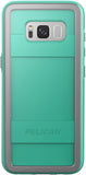 Protector Case for Samsung Galaxy S8 - Aqua/Gray