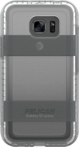 Voyager Case for Galaxy S7 Active (No Belt Clip) - Clear Gray