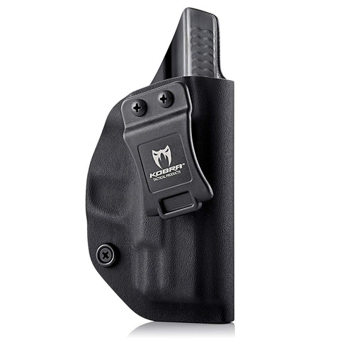 KOBRA Products IWB Holster for Glock 19, Glock 19 holster fits 19X 23 & 32, Made in USA Kydex IWB Glock Holster, Kydex Glock Concealed Carry Inside Waistband Holster with Adjustable Cant -Right Hand