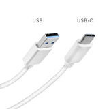 KOBRA USB-C To Type A USB Cable - 3.3 ft White