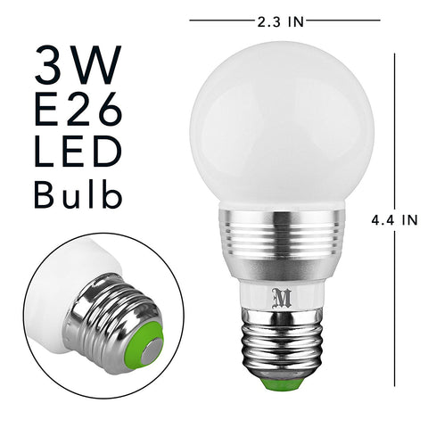 Phenomenal Kobra Led Bulb Color Changing Light Bulb With Remote Control 2 Pack Wiring Cloud Oideiuggs Outletorg