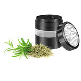 "KOBRA Grinders – Premium Large Herb Grinder - Four Piece Aluminum with Pollen Catcher - 3.25 Inches Tall - (2.5"", Black)"