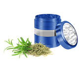 "KOBRA Grinders – Premium Large Herb Grinder - Four Piece Aluminum with Pollen Catcher - 3.25 Inches Tall - (2.5"", Blue)"