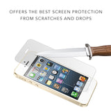 iPhone 5S Screen Protector (0.3mm 9H Tempered Glass) Ultra Thin Premium HD Clarity – Shatterproof, Anti Fingerprints, Scratch Proof, Max Touch Accuracy, Fits iPhone 5 / SE / 5S / 5C Lifetime Warranty