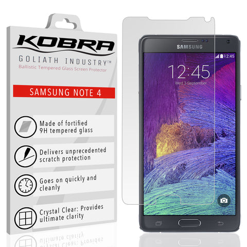 Samsung Note 4 Screen Protector (0.3mm 9H Tempered Glass) Ultra Thin With Premium HD Clarity – Shatterproof Ballistic Shield, Anti Fingerprints, Scratch Proof, Max Touch Accuracy (Lifetime Warranty)