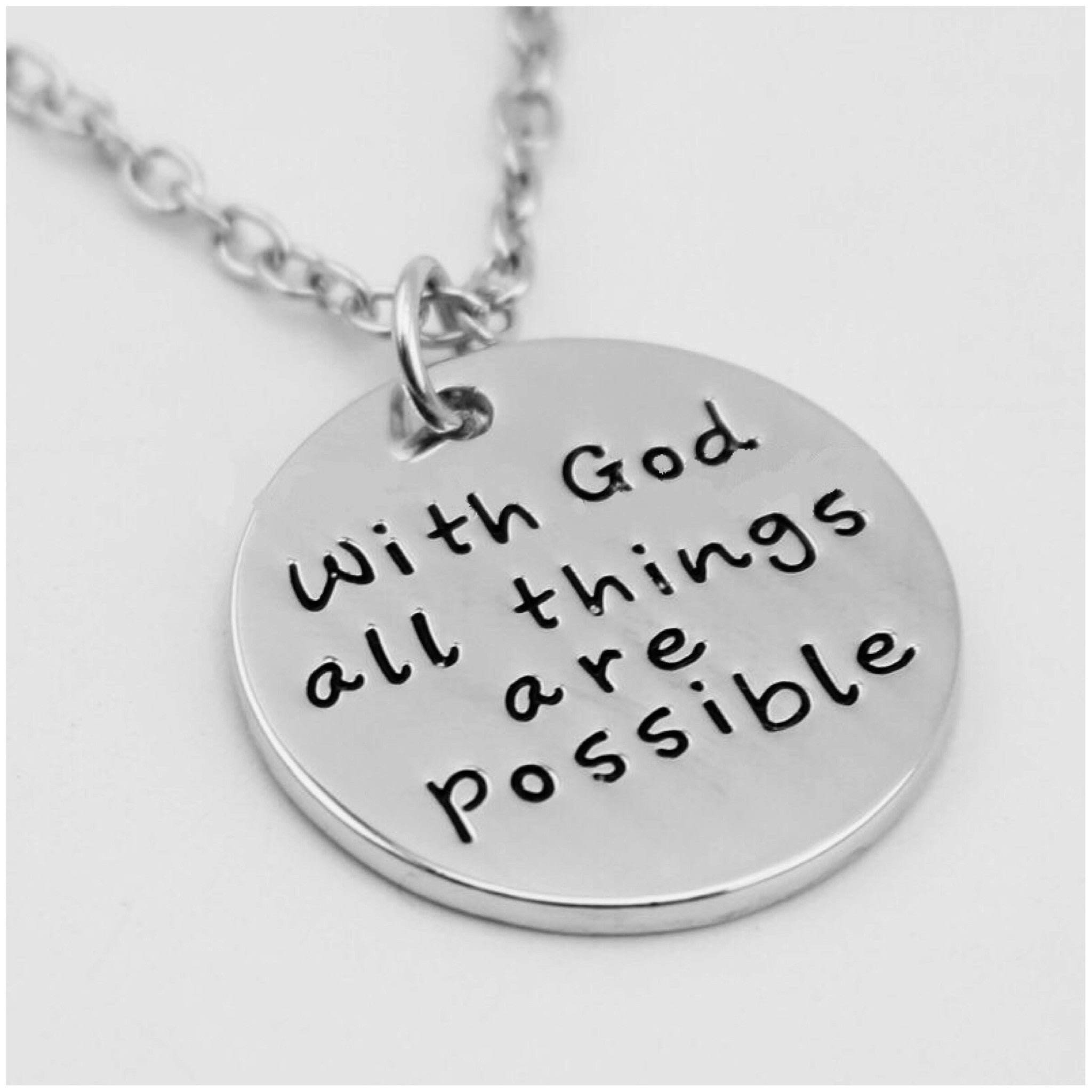 res have faith believe expect tone pendant antique itm three miracles necklace stamped charm trust