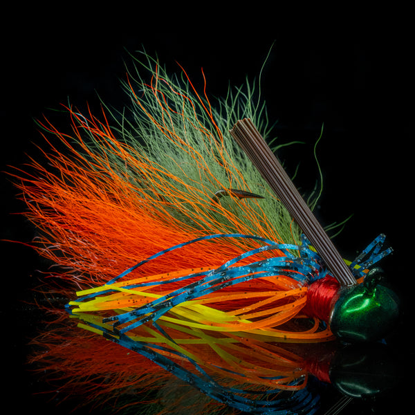 An NCB Hybrid-Skirt Football Jig in Summer Gill pattern
