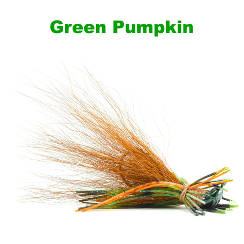 Green Pumpkin Hybrid-Skirt Finesse Jig