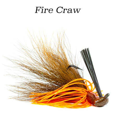 Fire Craw Hybrid-Skirt Casting Jig, arky head fishing lure