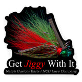 "Watermelon Red Flake ""Get Jiggy With It"" Decal"