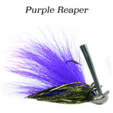 Purple Reaper Hybrid-Skirt Casting Jig, arky head fishing lure