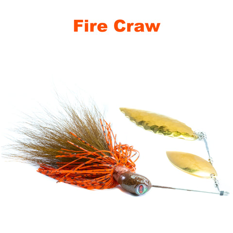 Fire Craw Hybrid Spinnerbait Plus, big game spinner