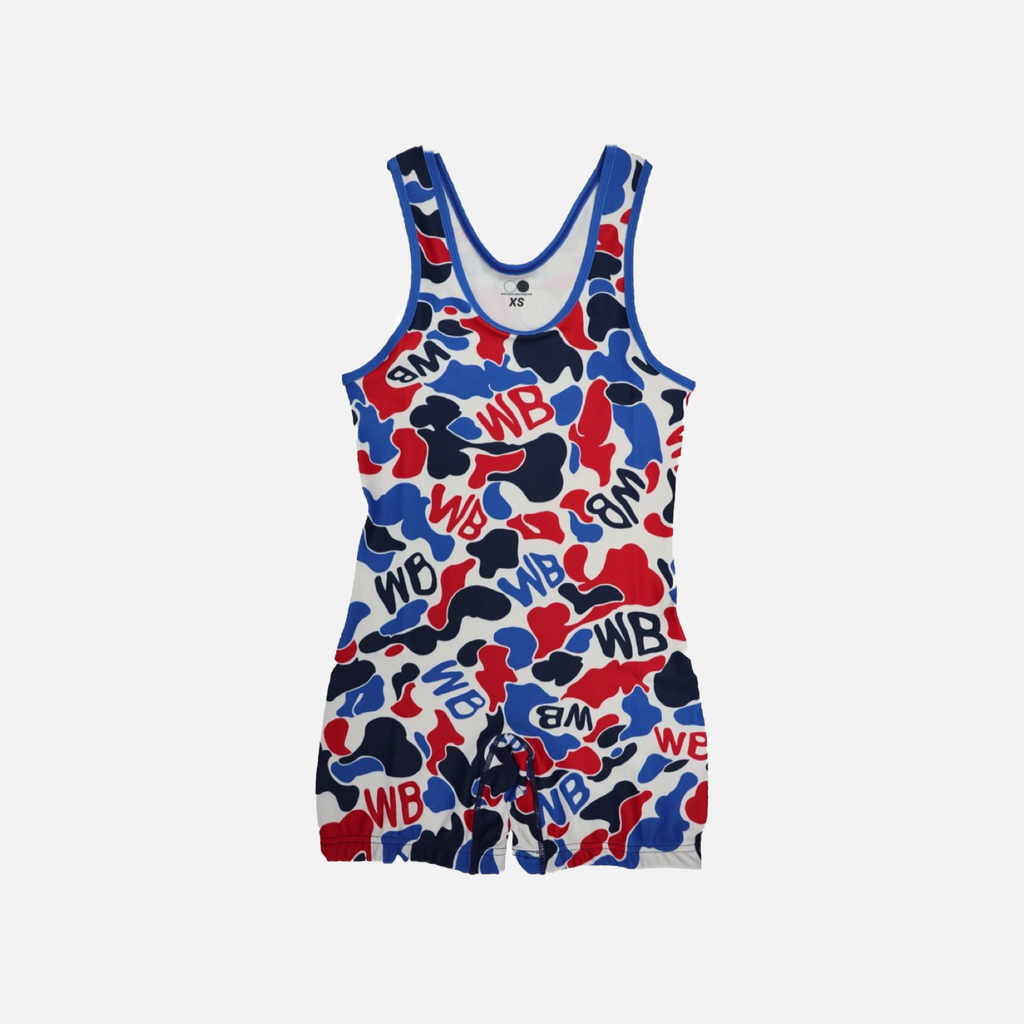 """WBAPE"" Singlet RWB - Wrestle Boutique"