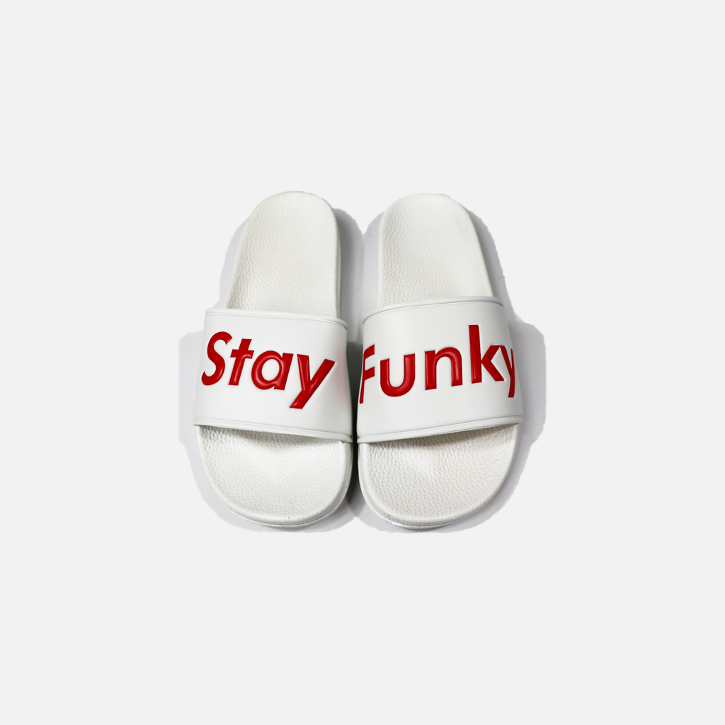 """Stay Funky"" Slides - Wrestle Boutique"