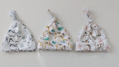 Newborn Top Knot Caps - all prints - STINA & MAE Inc.